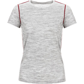 super.natural Base 175 T-shirt Damer, ash melange/pomegranate